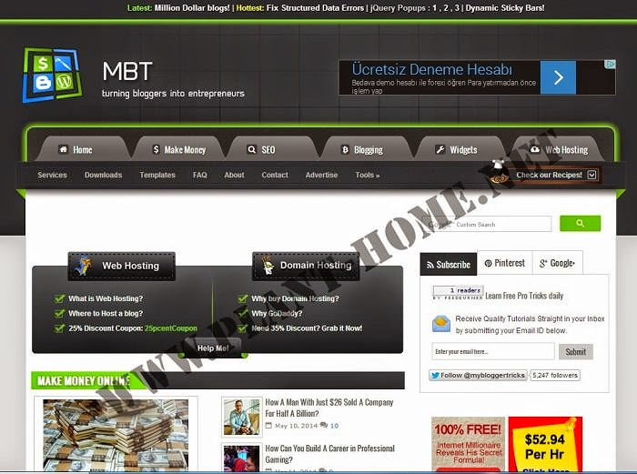 MBT Blogger Template
