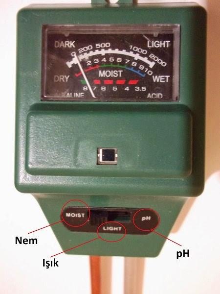 PH/Nem/Işık Toprak Test Cihazı Kullanımı