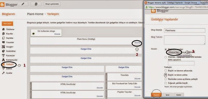 Blogger Site İcon ve Site İsimi Yerine Resim Ekleme